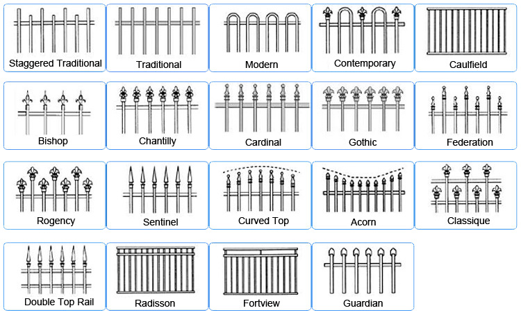 Pittsburgh used wrought iron fence Chicago ornamental fence manufacturer