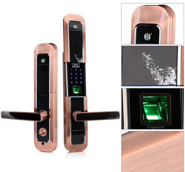 Fingerprint code card door lock electronic door lock security lock