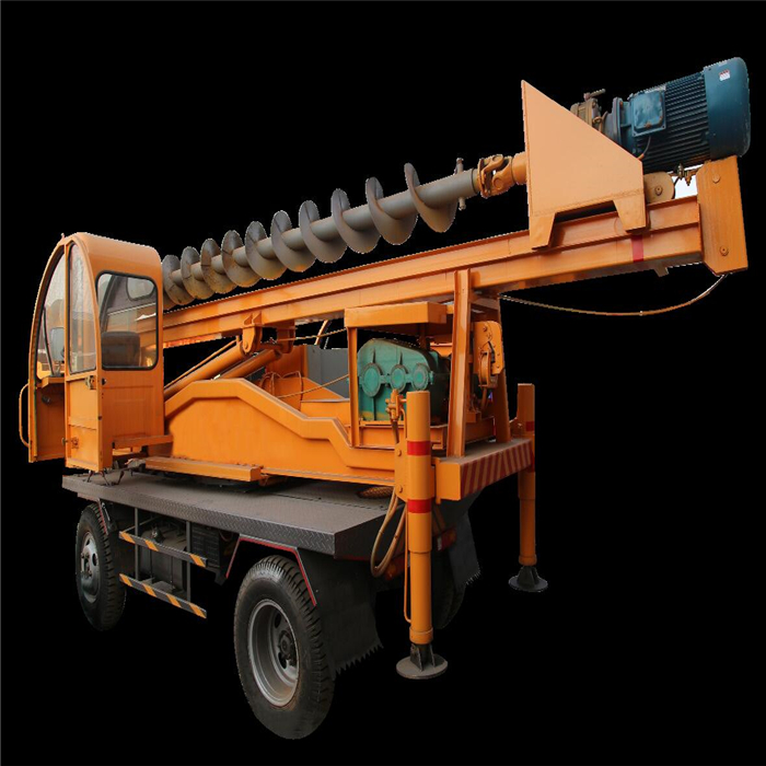 Portable pile driver excavator pile driver with moving wheels