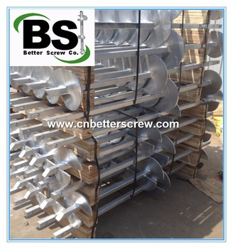 Square Shaft Hot Dipped Galvanized Helical Piles/Pier for Foundation Repair