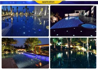Swimming Pool Fiber Optic Light with LED Light Engine & End Glow  Fiberoptics for Star Sky Effect