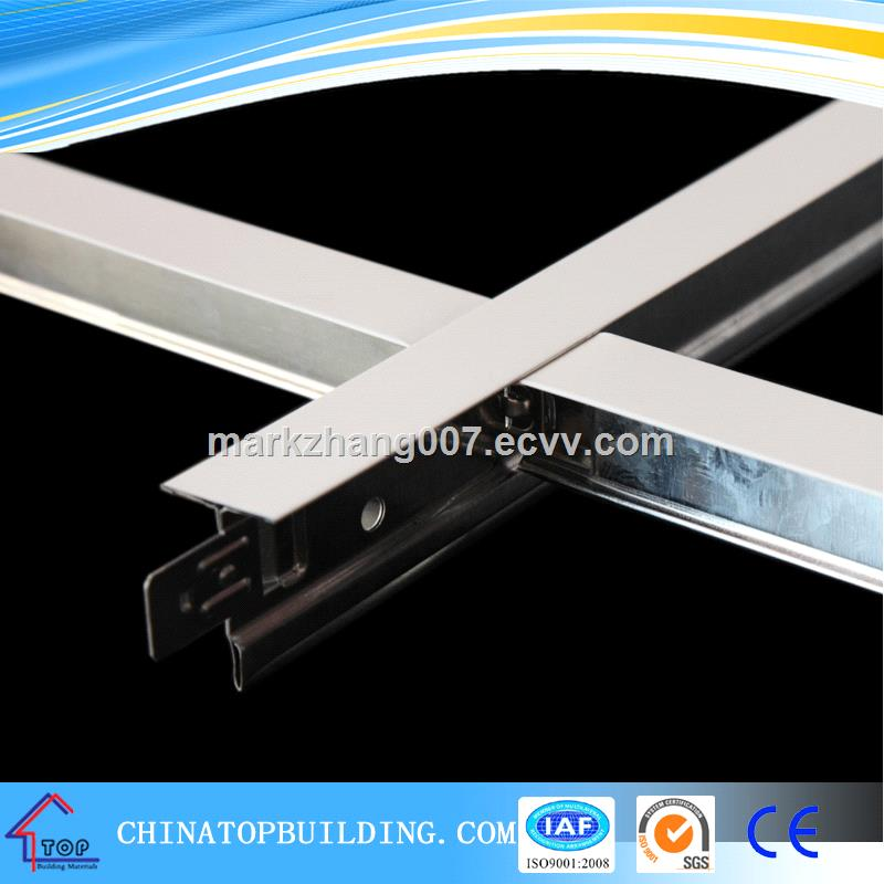 Flat Fut Groove Ceiling T Grid Ceiling T Bar For Suspended