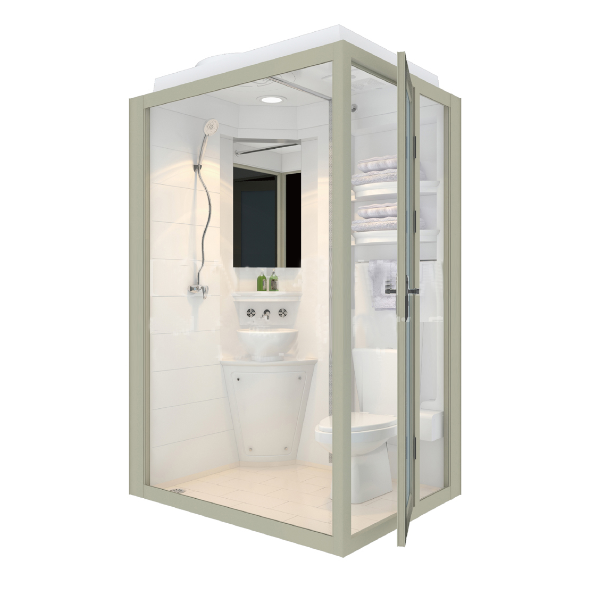 Energy Saving Water Space Modular Prefabricated Bathroom Pods