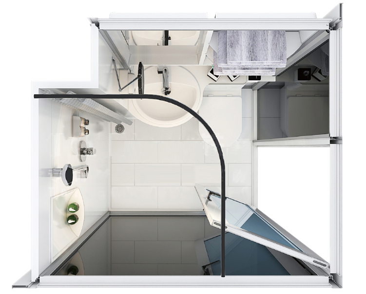 Easy To Clean Modular Bathroom Units Modular Bathroom Pods Purchasing Souring Agent