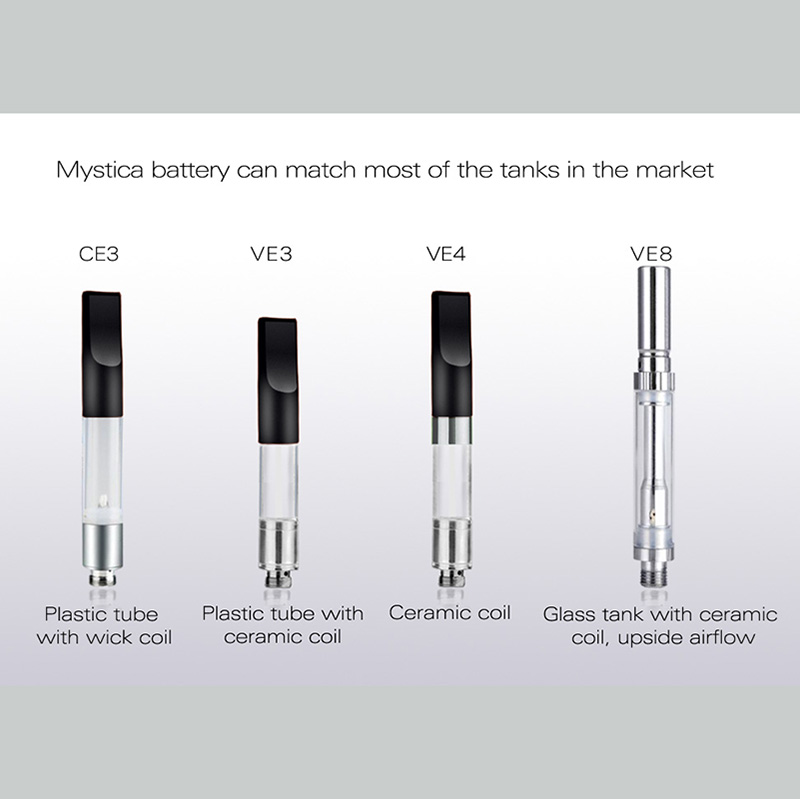 2017 new cbd vape pen batteryelectronic cigarette mystica start kit
