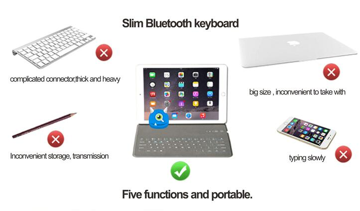 Ultrathin Bluetooth keyboard case for IOSAndroid windows systems 710