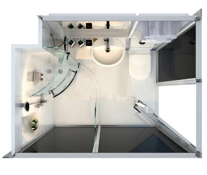. New Arrival Prefab Bathroom Pods  Prefab Toilet Bathroom  Modular Shower  Cabin