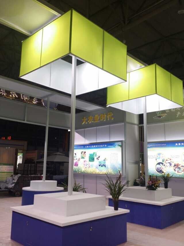 Exhibition Booth Backdrop : Exhibition fabric stand system aluminium material board producer