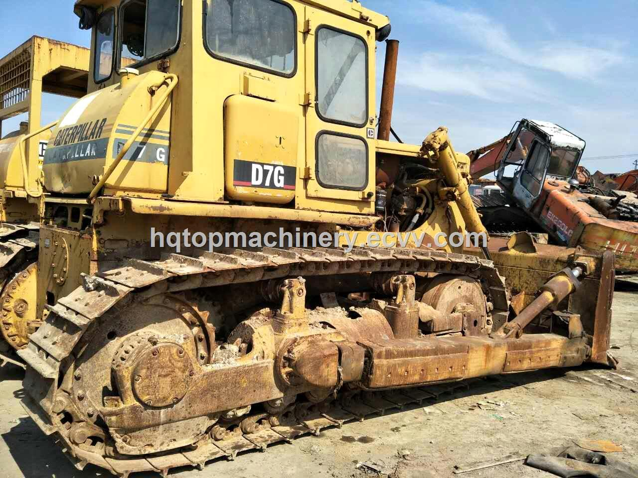 Used Crawler BulldozerJapan CAT D7G Hydraulic BulldozerCheap New Stock  Track Dozer