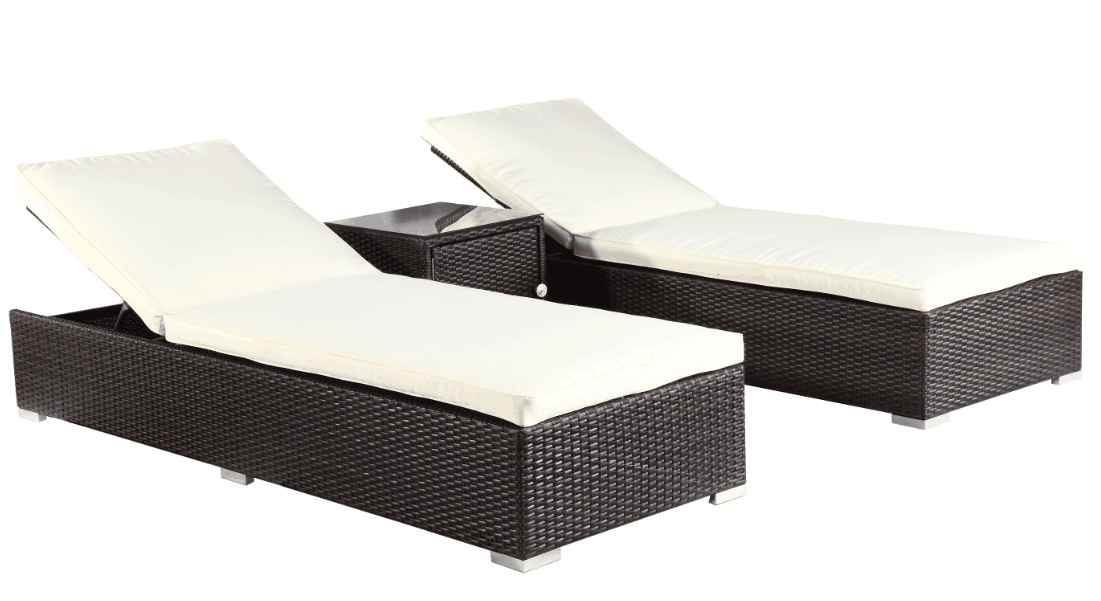 Garden Handmade Leisure Furniture Resort Rattan Lounge Sofa Set