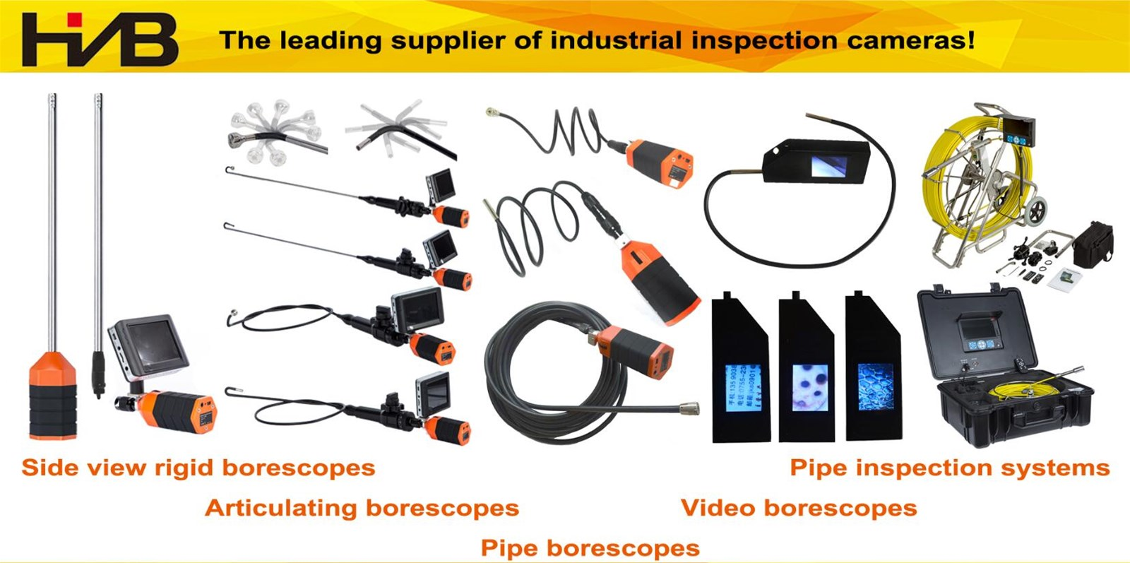 24G or WiFiSide View Rigid Borescope Inspection Camera with Detachable Camera Probe