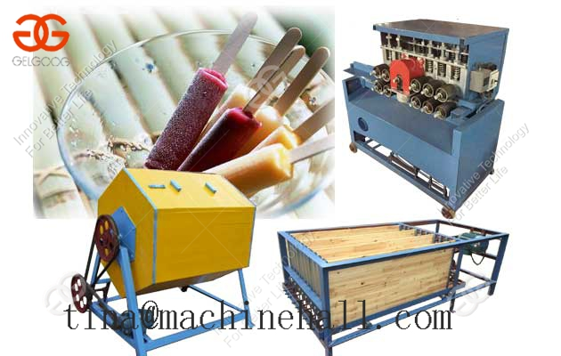 Round Wood Popsicle Bar Ice Cream Stick Production Line