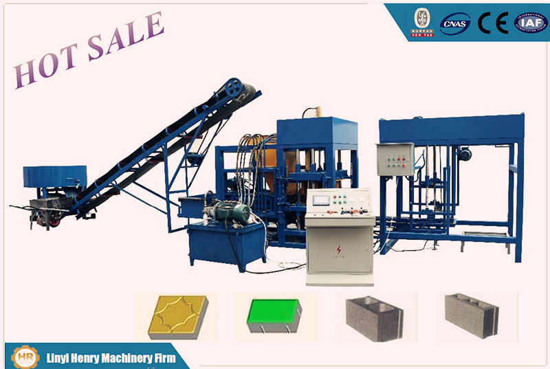 Qt4-20 Automatic Concrete Hollow Block Machine In Construction