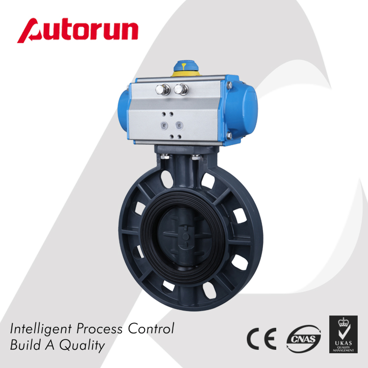 Wenzhou Supplier PVC Wafer Pneumatic Butterfly Valve