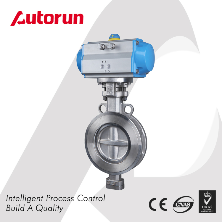 Wenzhou Supplier Triple Offset Wafer Pneumatic Butterfly Valve
