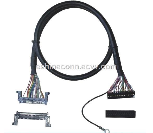 OEM LVDS cable assemble with dupont 20 connector and China brand FIRE51HL To Monitor