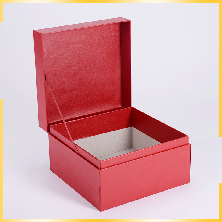 Hot sell item OEM carton box price durable birthday flip top red gift box wedding