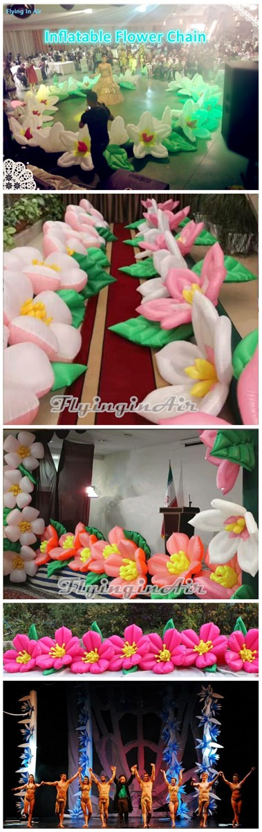 Bloom Inflatable Flower Chain for WeddingStage Decoration