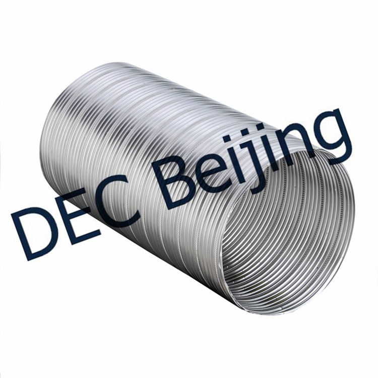 Double Layer 8 Inch Flexible Aluminum Foil Duct for HVAC Systems