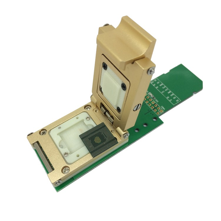 EMCP529 BGA529 Pogo Pin Test Socket Reader Pitch 0 5mm for KMR210008M-A805  for SAMSUNG Note4 Flash Data Recovery