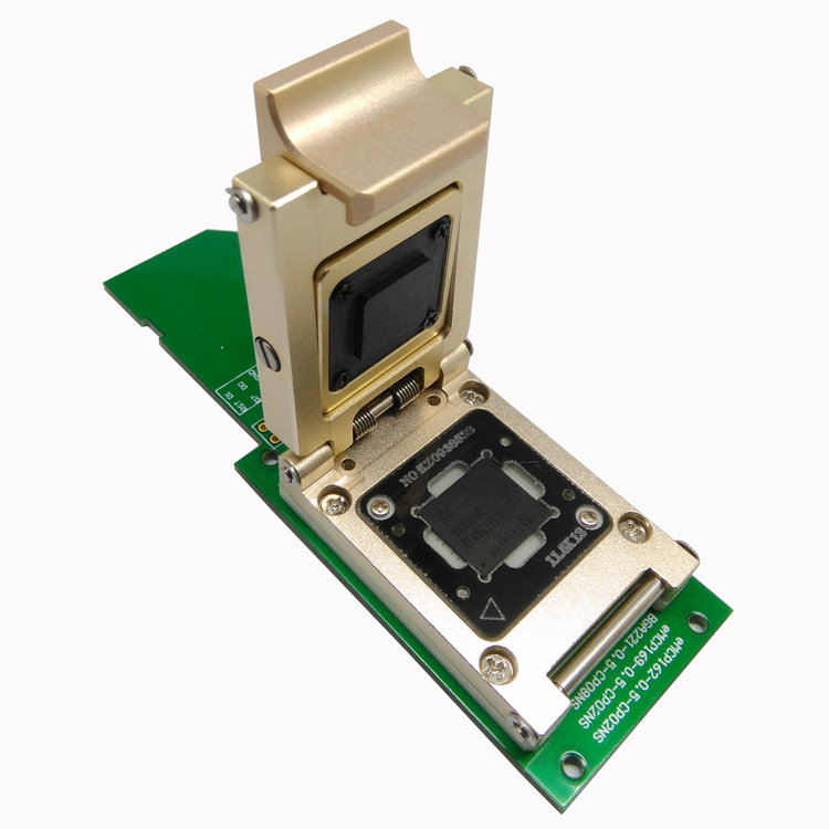 EMMC Test Socket to SD Interface Nand Flash Pogo Pin BGA153/169 Reader  Pitch 0 5mm Smart Phone Data Recovery