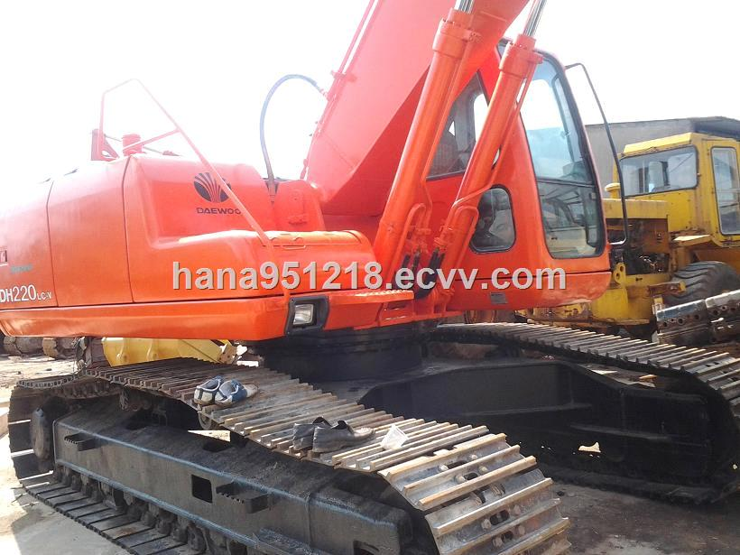 Used Daewoo DH220LC Crawler Excavator Orijinal Japanese for Hot Sale