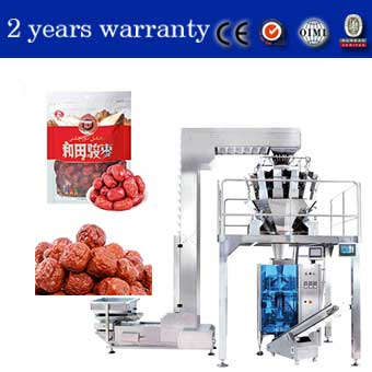 China Manufacturer Automatic Red Dates Pouch Packaging Machine with Multihead Weigher