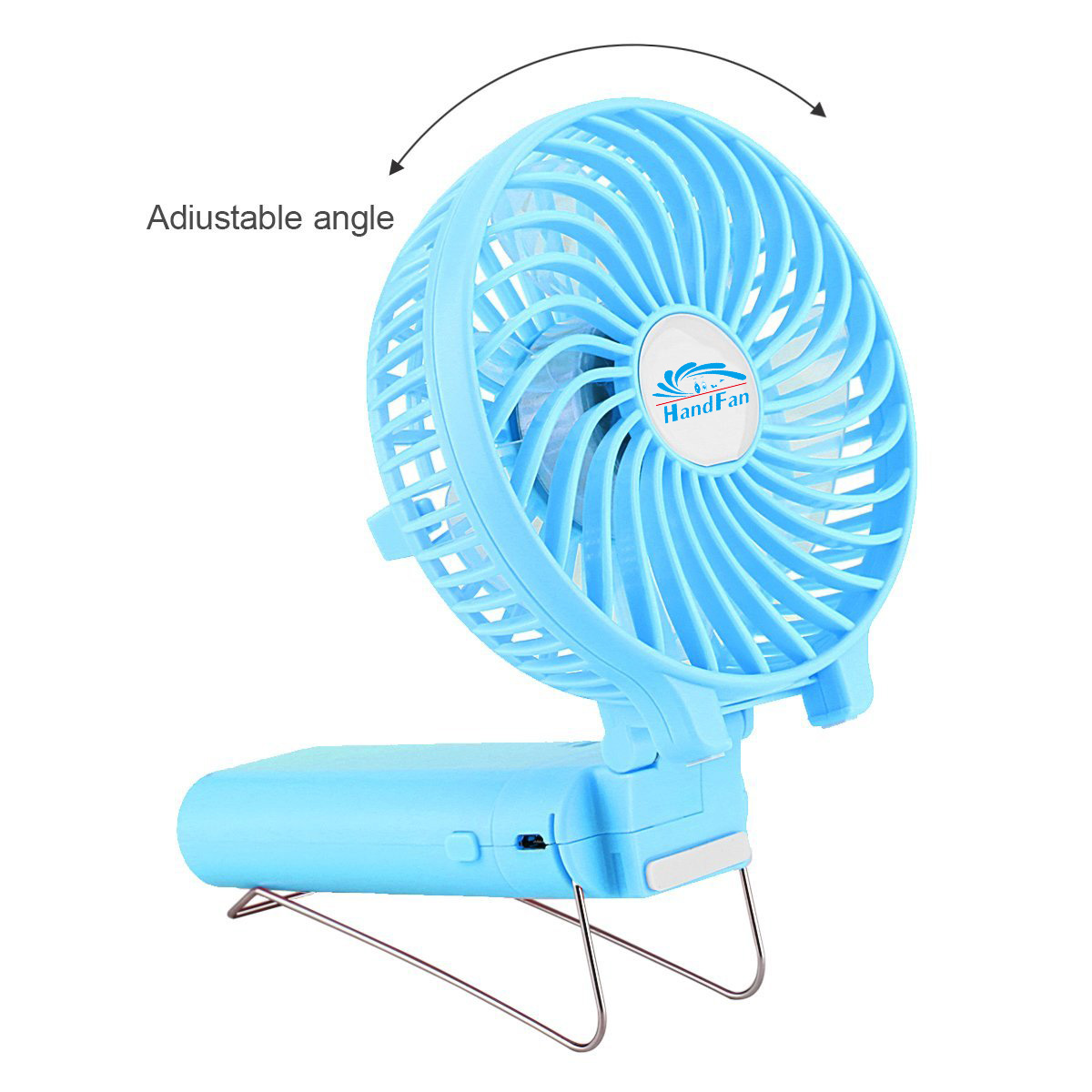 Hf310 Mini Portable Handy Power Bank Usb Fan For Home Travel Kipas Fortable
