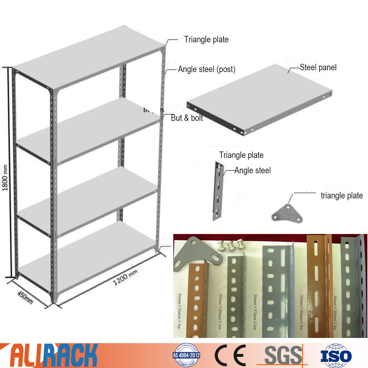 Mdf Wiring Diagram Library 84 Cj7 Computer Ali Racking Slotted Angle Steel Shelving With Shelves Light Duty Shelf