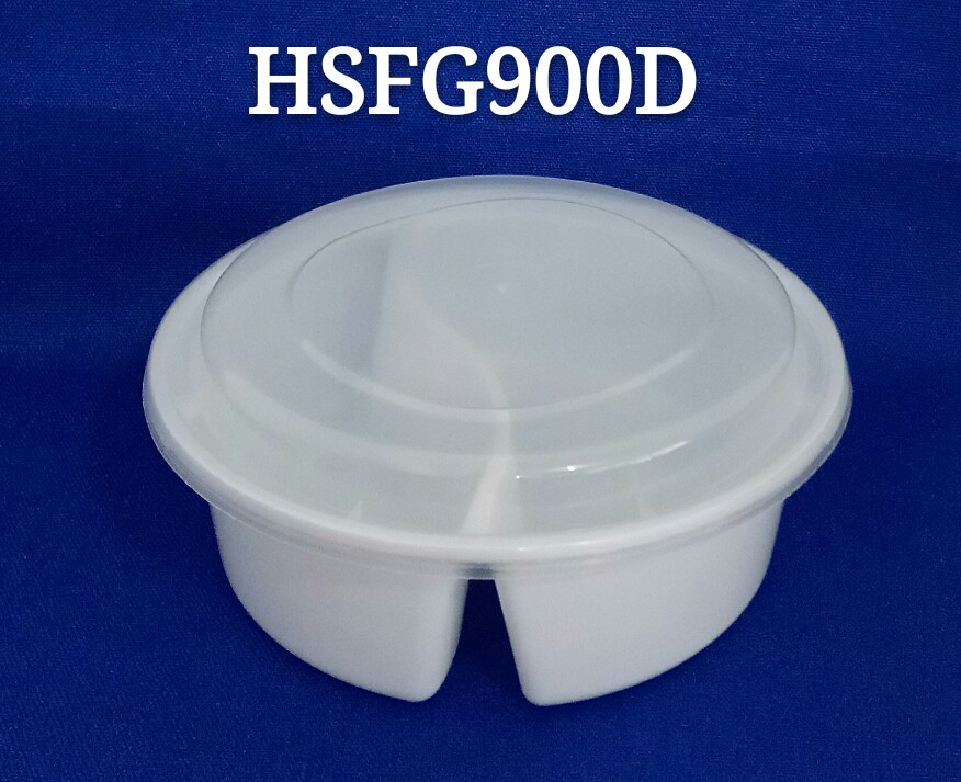 Round 2 Compartment 46 Disposable Pp Plastic Microwave Safe Food Container With Arched Lid