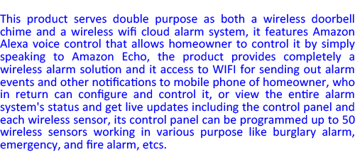 2017 hot selling wireless wifi cloud security alarm system
