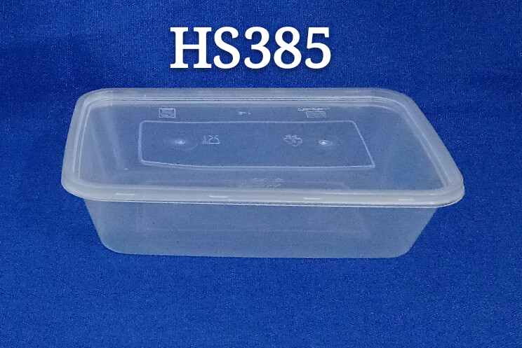 Rectangle 500ml Disposable Pp Plastic Microwave Safe Food Container With Flat Lid