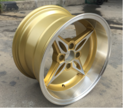 CAR WHEELS GOLDEN RIMS CHROMED FINISH ALUMINUM ALLOY ALU WHEEL RIMS