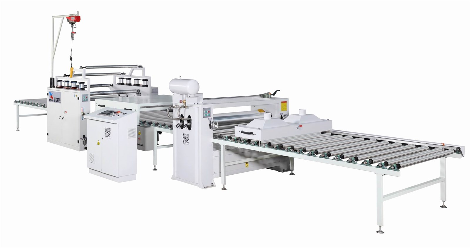 PVC and paper sticking machine production line