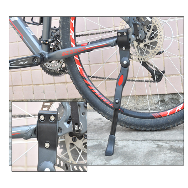 22-27'' Adjustable Bicycle Side Kickstand Bike Parking Stand