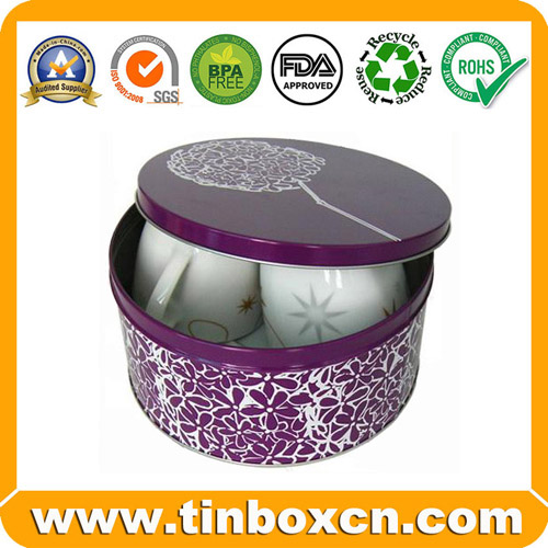 Round Tin Box Metal Tin Can BR014