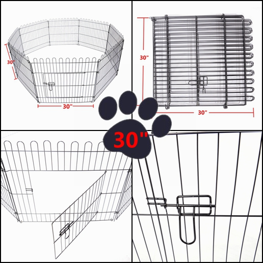 243036tall Foldable Dog Playpen Crate Fence Pet Cat Play Pen
