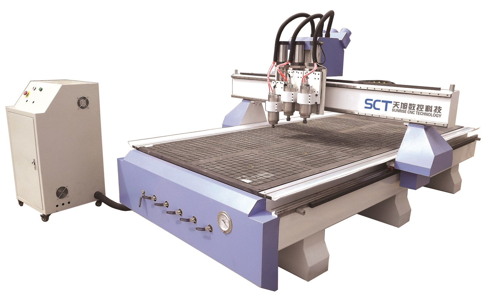 SCT-W1325Q3 Furniture Making Pneumatic Tool Change Spindle Engraving Cutting Wooden Doors ATC Router