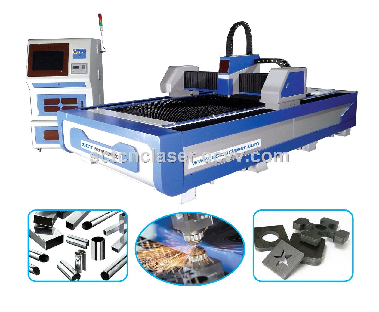 High Speed Metal Plates Kitchen Manufacturing SCT Fiber Laser Cutting Machine F3015