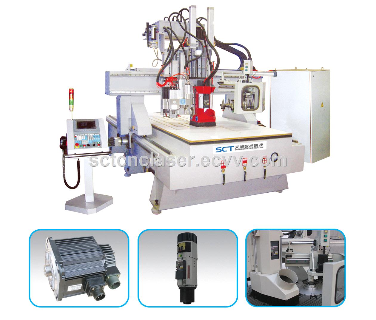 SCTW1325C Engraving Cutting Metal Nonmetal Materials ATC CNC Router