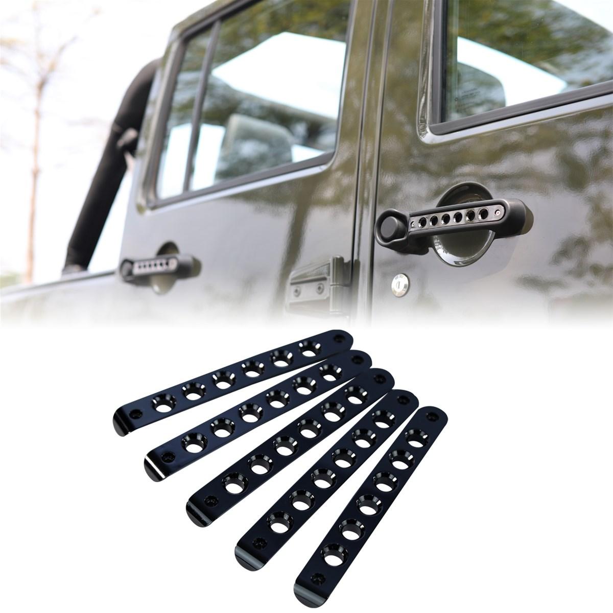 Exterior Door Handle Insert Grab Cover For 2007 2017 4 Jeep Parts 20072017 4door Wrangler