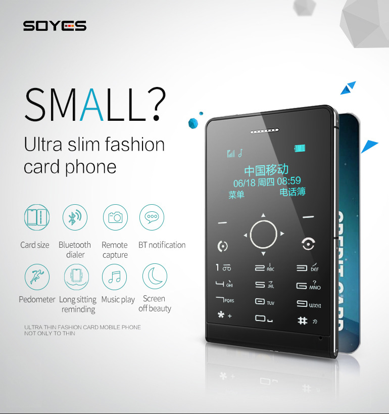 SOYES Card Phone H2 with 8G Memory