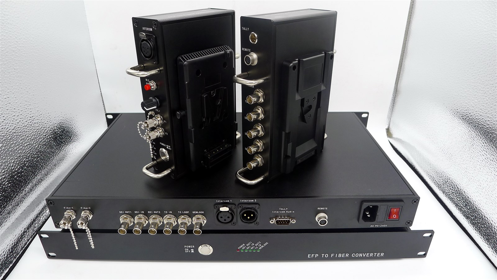 4K EFP camera over optic fiber system for Sony 4K SDI video Fiber transmission