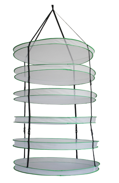 2 Feet Diameter Collapsible Mesh Hydroponic Drying Rack Net w ClipsStorage Carrying Bag