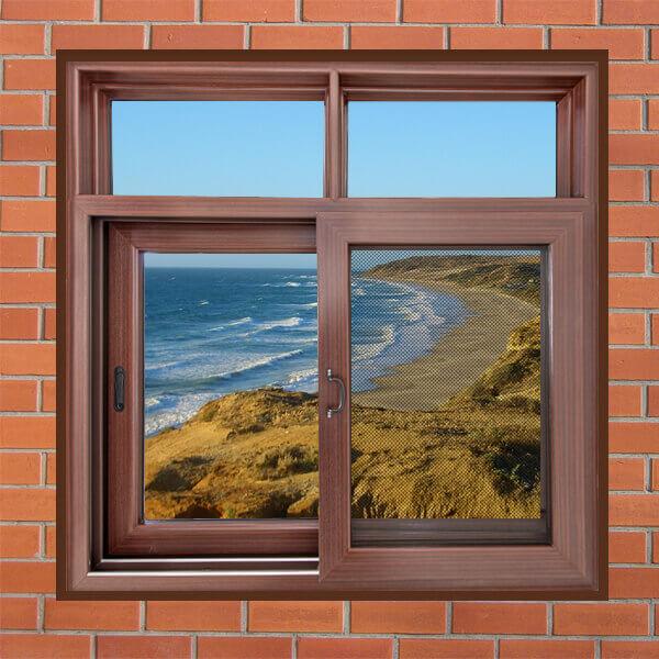 Single Pane Horizontal Storm Custom Color Sliding Glass Aluminum Profile Window Aluminum Small