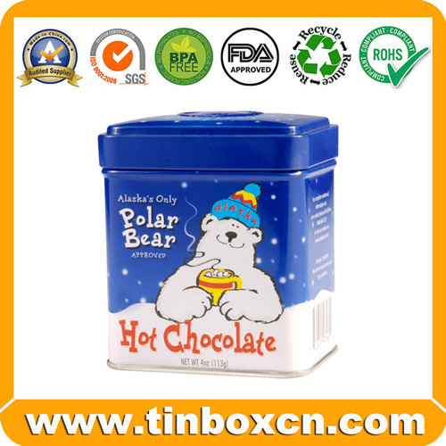 Food Packaging Chocolate Tin Box, Round Tin Can, Food Can(BR1514)