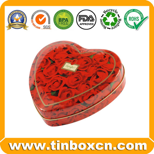 HeartShaped Candy Box Candy Tin Candy Tin Box Candy Can Tin Box for Candy Packaging Food Tin Box BR1615
