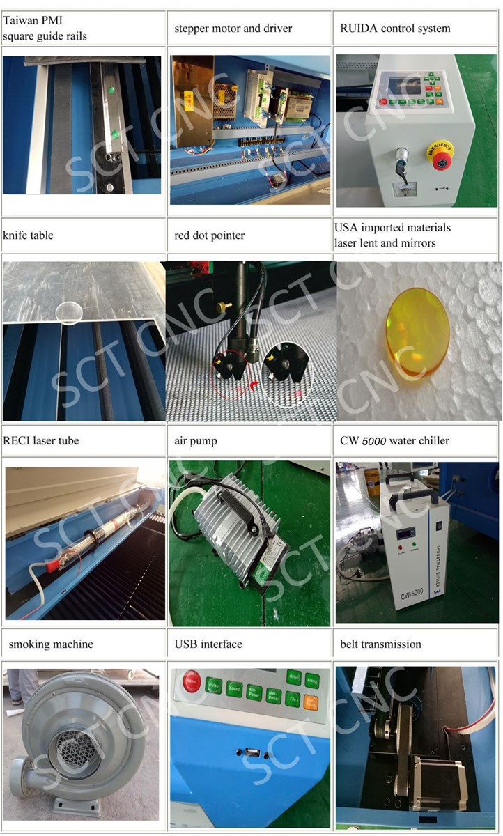 1490 Single Head Fabric Laser Cutting Engraving Machine