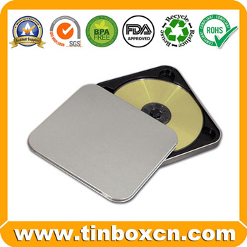 Tin CD Box, Tin CD Case, CD Box, CD Tin Box, Tin CD Bag, Metal CD Packaging (BR1154)