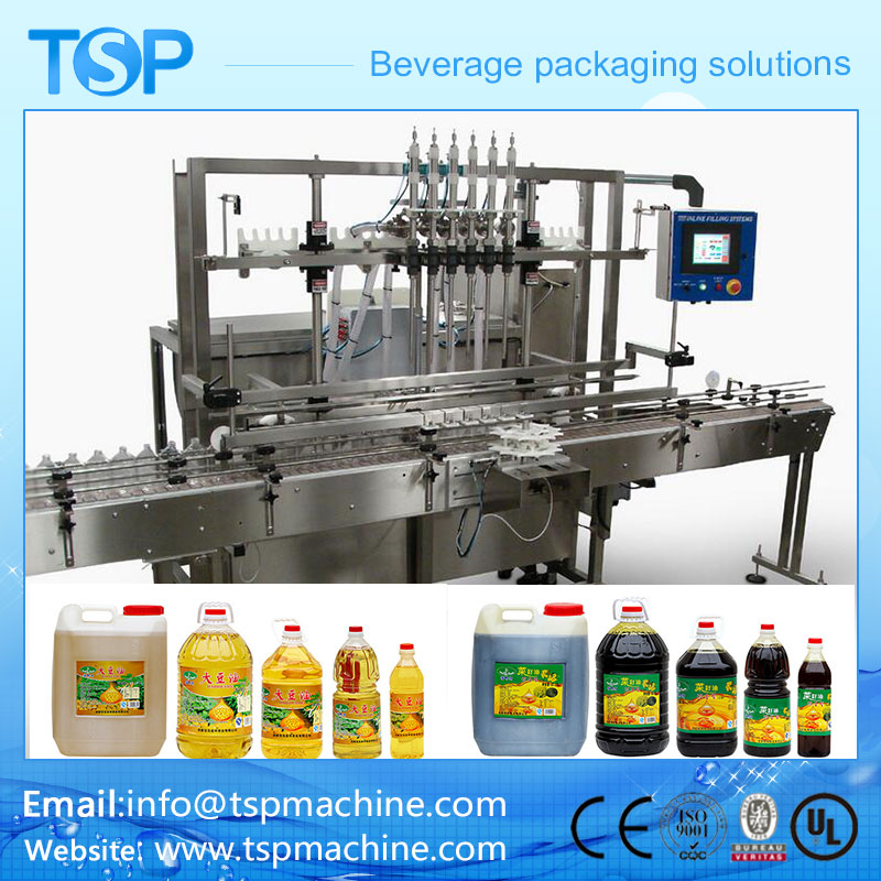 Automatic Linear Cooking Oil Edible OilOlive OilSunflower Oil Filling Machine Manufacture